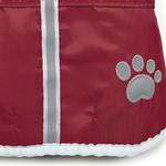 View Image 3 of Zack and Zoey ThermaPet Nor'Easter Dog Coat - Burgundy