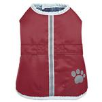 View Image 1 of Zack and Zoey ThermaPet Nor'Easter Dog Coat - Burgundy