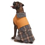 View Image 3 of Zack and Zoey ThermaPet Plaid Duck Dog Coat - Brown