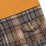 View Image 4 of Zack and Zoey ThermaPet Plaid Duck Dog Coat - Brown