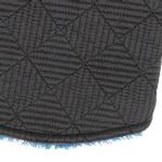 View Image 2 of Zack and Zoey ThermaPet Quilted Dog Vest - Black with Blue