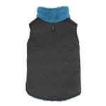 View Image 1 of Zack and Zoey ThermaPet Quilted Dog Vest - Black with Blue