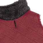 View Image 3 of Zack and Zoey ThermaPet Quilted Dog Vest - Red
