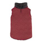 View Image 1 of Zack and Zoey ThermaPet Quilted Dog Vest - Red