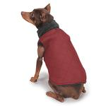 View Image 2 of Zack and Zoey ThermaPet Quilted Dog Vest - Red