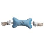 View Image 2 of Zanies Bone Tugger Dog Toy - Blue