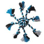 View Image 1 of Zanies Crazy Eight Rope Dog Toy - Blue
