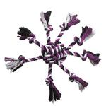 View Image 1 of Zanies Crazy Eight Rope Dog Toy - Purple