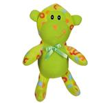 View Image 1 of Zanies Fleece Cuddlers Dog Toy - Green Monkey