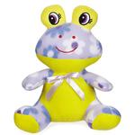 View Image 1 of Zanies Fleece Cuddlers Dog Toy - Purple Frog