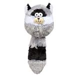 View Image 1 of Zanies Funny Furry Fatties Dog Toy - Raccoon