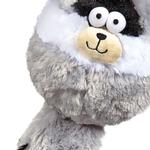 View Image 2 of Zanies Funny Furry Fatties Dog Toy - Raccoon