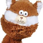 View Image 2 of Zanies Funny Furry Fatties Dog Toy -  Squirrel