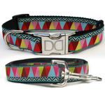 View Image 1 of Santa Fe Dog Collar and Leash Set by Diva Dog