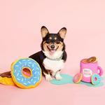 View Image 3 of ZippyPaws Burrow Dog Toy - Coffee and Donutz