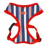 View Image 1 of Zorion Striped Dog Harness by Puppia - Red