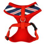 View Image 2 of Zorion Striped Dog Harness by Puppia - Red