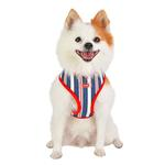View Image 4 of Zorion Striped Dog Harness by Puppia - Red
