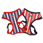 View Image 3 of Zorion Striped Dog Harness by Puppia - Red