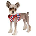 View Image 5 of Zorion Striped Vest Dog Harness by Puppia - Red