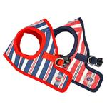 View Image 4 of Zorion Striped Vest Dog Harness by Puppia - Red