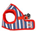 View Image 3 of Zorion Striped Vest Dog Harness by Puppia - Red