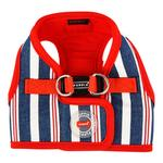 View Image 1 of Zorion Striped Vest Dog Harness by Puppia - Red