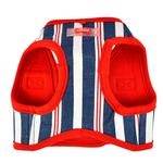View Image 2 of Zorion Striped Vest Dog Harness by Puppia - Red
