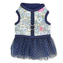 Begonia Flirt Dog Harness Dress by Pinkaholic - Navy