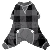foufou Dog Buffalo Plaid Dog Pajamas - Gray