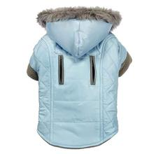 Zack and Zoey Quilted Thermal Dog Parka - Blue