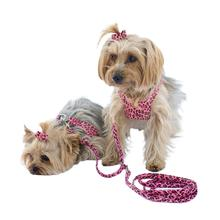 Ultrasuede Dog Coupler by The Dog Squad - Pink Cheetah