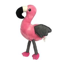 Plush Flamingo Dog Toy - Pink