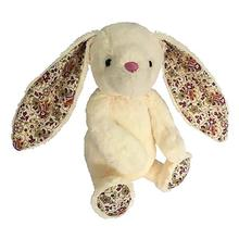 Plush Bunny Dog Toy - Ivory