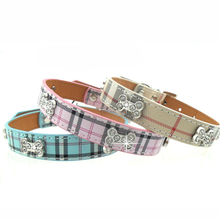 Plaid Dog Collar by Parisian Pet - Pink