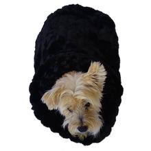 3-in-1 Cozy Dog Cuddle Sack - Black