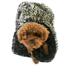 3-in-1 Cozy Dog Cuddle Sack - Black Spotted Leopard