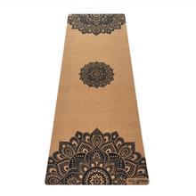 3.5mm Cork Yoga Mat- Mandala Black