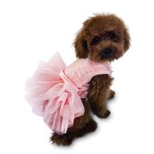 Fufu Tutu Iridescent Lace Dog Dress - Pink and Rose Gold