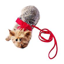 Ultrasuede Dog Leash by The Dog Squad - Red