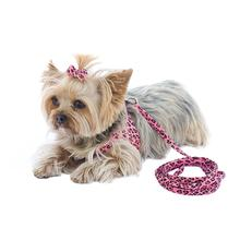 Ultrasuede Dog Leash by The Dog Squad - Pink Cheetah