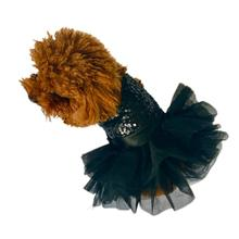 Marilyn Sequin Fufu Tutu Dog Dress - Black