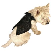 Gentlemen's Sequin Dog Tuxedo Vest - Black