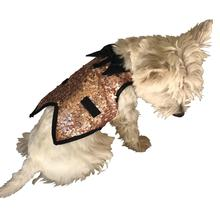 Gentlemen's Sequin Dog Tuxedo Vest - Rose Gold