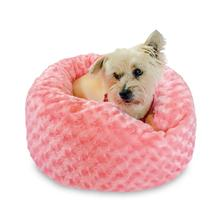 Crispy Creme Donut Dog Bed by The Dog Squad - Coral Rosebud