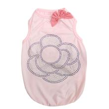 Parisian Pet Bling Flower Dog Tank - Pink