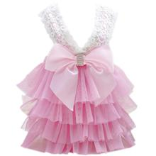 Bling Bow Dog Dress by Parisian Pet - Pink
