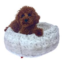 The Dog Squad's Crispy Creme Donut Dog Bed - Snow Leopard