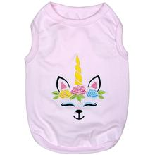 Unicorn Dog Tank by Parisian Pet - Light Pink