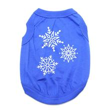 Snowflakes Dog Shirt - Blue